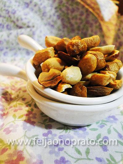 amendoim no micoondas