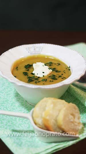 Sopa Creme de Legumes com Nata